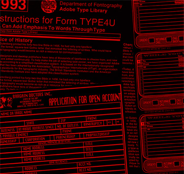 """Forms from """"Stop Stealing Sheep"""" by Erik Spiekermann & E.M. Ginger"""