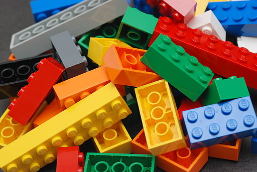 LEGO bricks in a pile