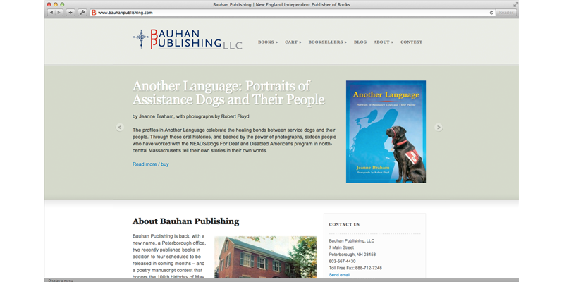 Bauhan Publishing eCommerce/Blog Website